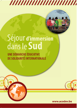 Brochure Séjour d'immersion